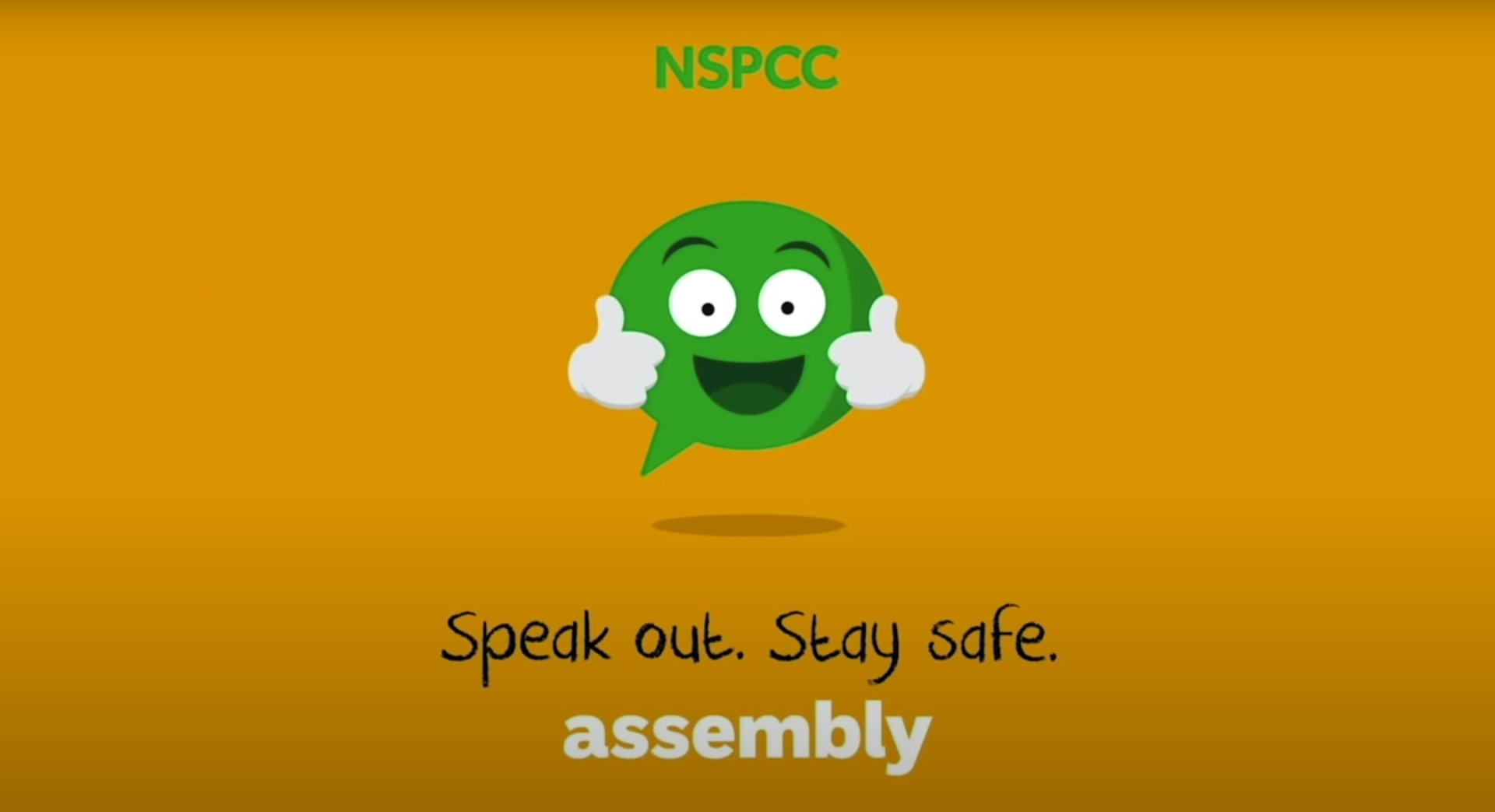 Link to the Youtube video for the NSPCC Virtual Assembly